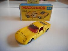 Matchbox Lesney Lamborghini Miura P400 in Yellow in Box
