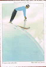 SAMIVEL -Illustrateur-Ski-On ne meurt qu'une fois-Si muore una volta sola-1960