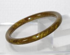 Vintage Celluloid Bracelet Bangle Art Deco green pearlized textured design