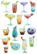 Cocktail Wall Stickers - 5 sizes available