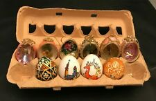 Collectible Decorative Eggs Set of 10 Hand Made.