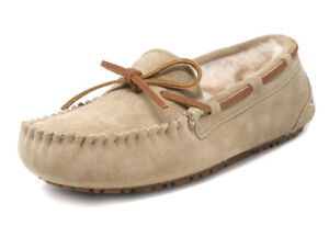 Women's Comfortable Suede Moccasins Slippers Sheepskin Fur Winter House Shoes