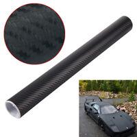 2M x 600MM 3D Carbon Fiber Vinyl Wrap Roll Film Decals Car Black Wallpaper UKED