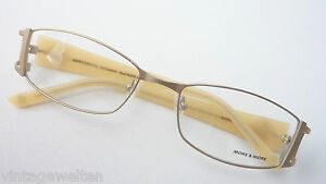 More & More Brillenfassung Marken-Brille Damen matt gold breite Bügel Grösse M