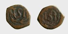 s589_6) SRI LANKA (CEYLON) Dutch colonial Ceilon (1660 – 1720) Æ Stuiver wreath