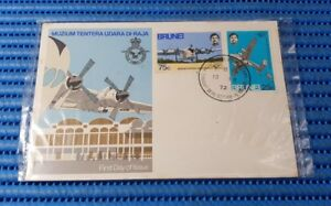 1972 Brunei First Day Cover - Royal Air Force Museum Commemorative Stamp Issue