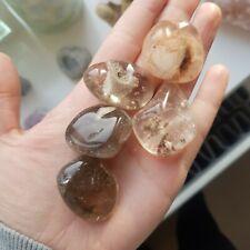 Manifestation pebble  Crystal Quartz Healing Guidance Psychic Energy Charged