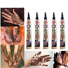 5 x Golecha Henna Paste Tube Schwarz 125g Mehndi Klinisch getestet Tattoo Indien