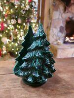 """Vintage Holland Mold Ceramic Christmas Tree Napkin Holder or Card Holder 7"""""""
