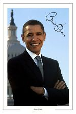 BARACK OBAMA AUTOGRAPH SIGNED PHOTO PRINT USA PRESIDENT POTUS UNITED STATES