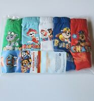 5 Pack of Boys Paw Patrol Pants / Briefs 100% Cotton 18 months - 5 years