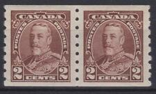 Canada 1935 #229  King George V Pictorial Coil PAIR - VF MH