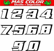 NUMEROS CUSTON moto Racing Pegatina sticker vinilo DORSAL todos los modelos