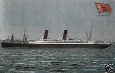 2968/ Foto AK, Dampfer SS Caonia, 1908