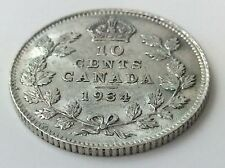 1934 Canada Ten 10 Cents .800 Silver Canadian Almost Uncirculated Dime Coin A453