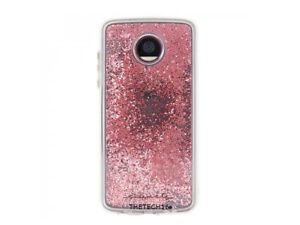 Case Mate Naked Tough Waterfall Case Cover Moto Z2 Play Clear Pink Glitter