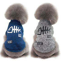 Warm Fleece Padded Dog Jumper Clothes Chihuahua Coat Jacket Puppy Cat Sweater