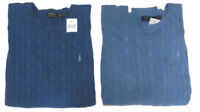 Polo Ralph Lauren Mens RL Silk Cable Knit Crew Neck Ivy League Pony Logo Sweater