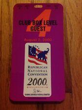 2000 Republican National Convention CLUB BOX Level Credential George W. Bush #4