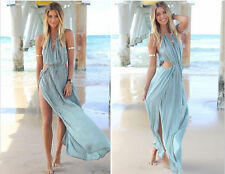 Chiffon Summer/Beach Solid Sundresses for Women
