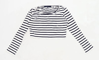 French Connection Womens Size M Striped White Top (Regular)