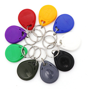 🔥5/10/20/50/100/500 - 125Khz RFID Proximity ID Card Token Tags Key Fobs Keyfobs