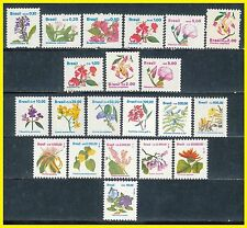 1989-1993 - BRAZIL - Full Flower Definitives Set (21 values MNH)