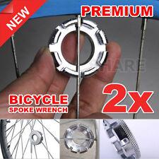 2x Spoke Wrench Steel Bicycle Bike Adjuster Repair Tool Wheel Spanner Vehicle