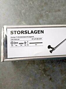"""Ikea Storslagen Curtain Rod Single Black Adjustable Length 47 1/4""""-82 5/8"""" NIB"""