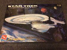 1995 AMT Star Trek Generations USS Enterprise B 1/1000 Scale Model Kit 8762 NEW