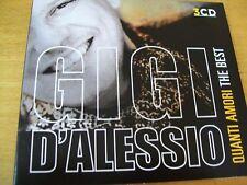 GIGI D'ALESSIO QUANTI AMORI THE BEST 3 CD MINT-