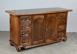 QUALITY ANTIQUE  WALNUT PARQUETRY INLAID HARDWOOD SIDEBOARDS /TABLE&CH AVAILABLE