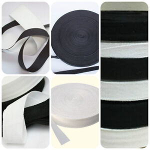 Black & White Cotton Bunting Tape All Widths  x 5 & 10 metre Lengths
