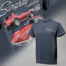 1968-1972 Corvette C3 Stingray Red on Charcoal Heather T-Shirt 684800