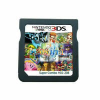 208 in 1 Games Cartridge Multicart For Nintendo DS NDS NDSL NDSI 2DS 3DS USA