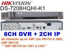 Hikvision 8CH TURBO HD DVR DS-7208HQHI-K1 H.265+ 4MP TVI/AHD/2MP CVI +2CH 4MP IP