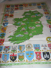 Linen Tea Towel Arms And Seals of Provinces Cities Boroughs And Towns in Ireland
