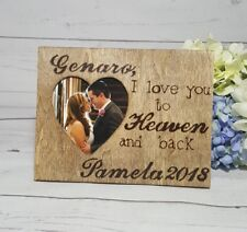Personalized I Love You Engraved Photo Frame Wedding Names & Date Couple Gift
