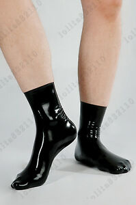 Bidding Latex Rubber Gummi ankle Socks stocking suit 0.7mm sexy 25-26cm thick