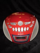 Vintage Sony Boombox Cfd-E75 Cd Player Am/Fm Cassette Tape Recorder