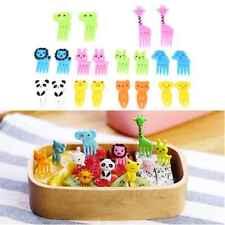 10pcs Animal Fruit Fork Mini Cute Cartoon Children Snack Cake Dessert Toothpick