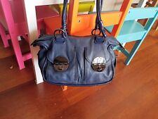 MIMCO mini midnight blue ziptop button bag
