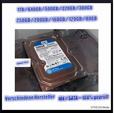 1TB / 500GB / 250GB / 200GB / 160GB / 80GB FESTPLATTE - 3.5 Zoll - SATA - IDE
