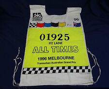 FORMULA 1 MELBOURNE F1 MARSHALL PIT VEST TABARD 1996 FIA AUSTRALIAN GRAND PRIX