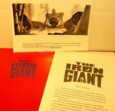 The Iron Giant Movie Presskit 1999 Warner Bros 2 B&W Glossies Production Info