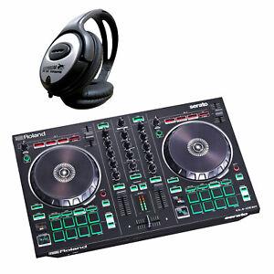 Roland DJ-202 2-Kanal 4-Deck USB-DJ-Controller + keepdrum Kopfhörer