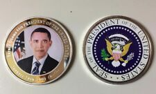 COMMEMORATIVE COIN BARACK OBAMA SEAL THE 44TH PRESIDENT THE UNITED STATES CASE