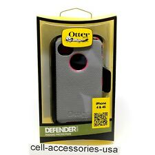 OtterBox Defender Case with Belt Clip for iPhone 4/4s - Pink / Gun Metal Gray