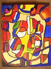 Le Bal  Abstraction cubiste Tableau Acrylique sur toile 50cm x 40cm