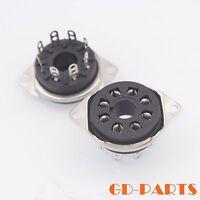 8 Pin Octal Bakelite Tube Socket for KT88 EL34 6550 GZ34 Bottom Chassis Mountx10